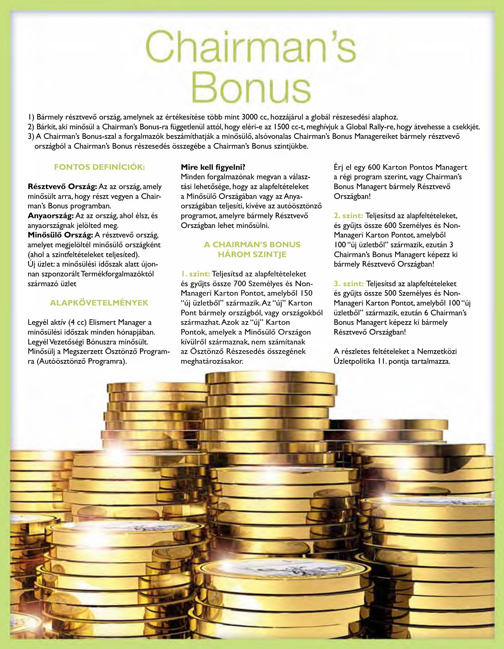Chairman's Bonus 2015